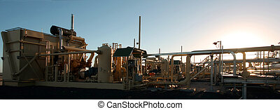 Oil and Gas - A natural gas compressor staion