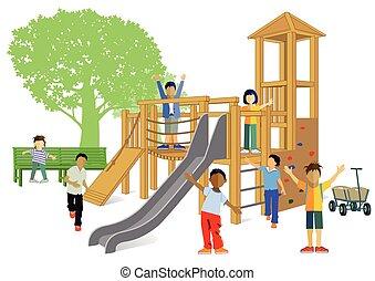 Kinder Spielplatz.eps
