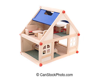 house toy - nice house toy isolated on the white background