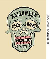 Typographic retro grunge Halloween