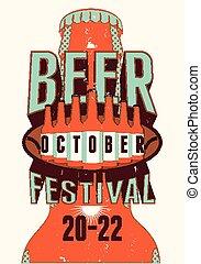 Beer Festival vintage style grunge
