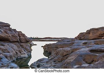 Sam Pan Bok in Mae Kong river Ubonratchathani Province...
