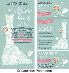 Bridal shower invitations.Wedding Dress,decor - Bridal...