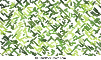 Green paint camouflage background - Animated oil paint brush...