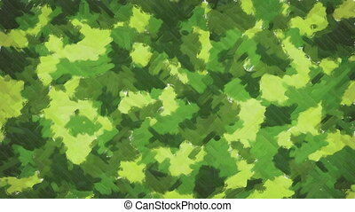 Oil painting camouflage background - Moving oil paint brush...