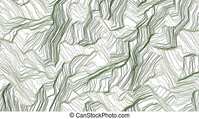Hand drawn green camouflage - Random animated crayon hatches...
