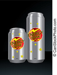 Energy drink can vector illustration
