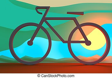 Bicycle Riding. Transportation Icon Concept - Bicycle...