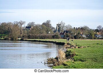 Fen Ditton, Cambridgeshire - Ditton Meadows, a common...