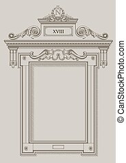 Framing the wall opening - Classical vector frame wall...