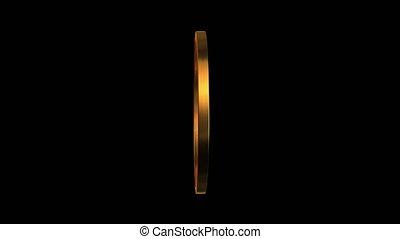 gold ring turning around 4K - 3d render of golden ring...