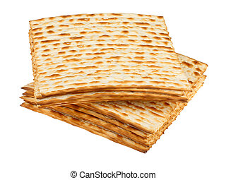 Matzo for pesach pile - Traditional Jewish holiday food -...