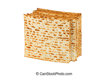 Matzo for pesach pile - Matzo or matzah is bread...