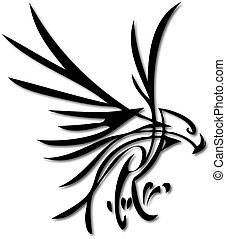 Eagle - an abstract silhouette of a flying eagle