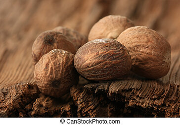 nutmeg on an old table