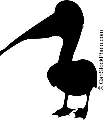 Pelican - a silhouette of a pelican on a neutral background