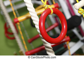 gymnastics rings rope ladder - wall bars for children ,...