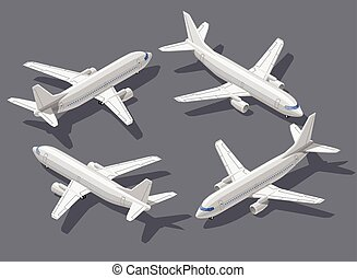 Isometric airplane - Passengers airliner high quality...