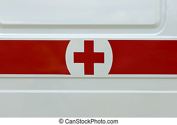red cross on the car side