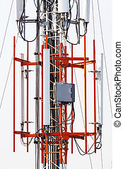 Antenna repeater - Close up antenna repeater cell tower in...