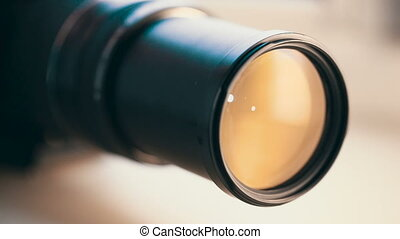 camera lens zoomng - Photo camera lens zoom in and zoom out