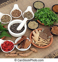 Healing Herbs for Men - Healing herb and spice selection...