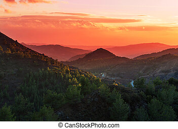 Cyprus mountains - Scenic view of the mountains in Cyprus