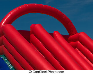 Inflatable slide for little child fun playing