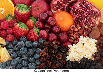 Superfood Fruit Background - Superfood fruit selection...