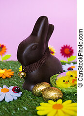 Easter background - An Easter background with an Easter...