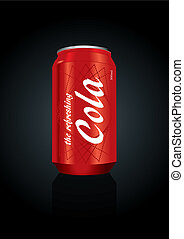 Vector illustration of cola can - Vector Illustration of a...
