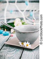 Easter table - Easter Easter place setting Easter table in a...