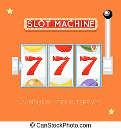 Online slot machine Vector gambling user interface - Online...