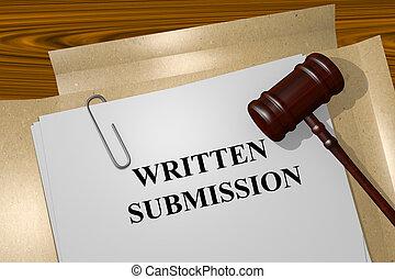 escrito, conceito, submissão