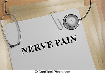 nerf, douleur, concept,