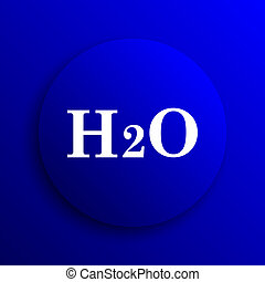 H2O icon Internet button on blue background