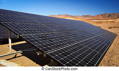 Solar Panels in Death Valley National Park - Solar panels...