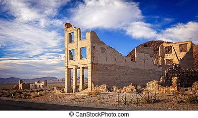 Rhyolite Ghost Town Bank Ruins