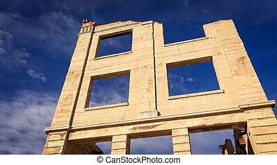 Rhyolite Ghost Town Bank Remains
