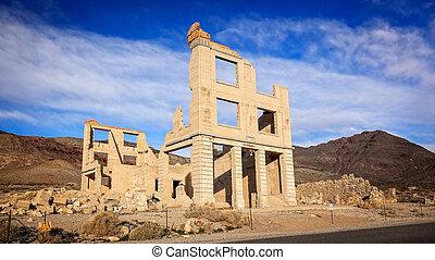 Rhyolite Ghost Town Building Ruins