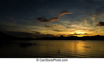 Langkawi Sunrise 2 - Time lapse footage of sunrise at...