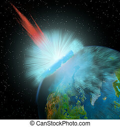Asteroid hits Earth