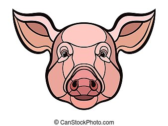 Pig head mascot - Pig head. This is vector illustration...