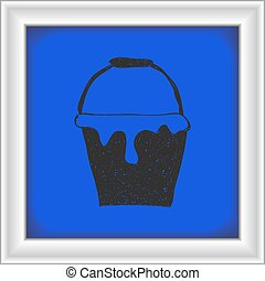 Simple doodle of a paint bucket
