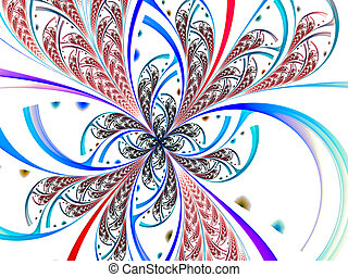 Abstract digitally generated image unusual splitted flower -...