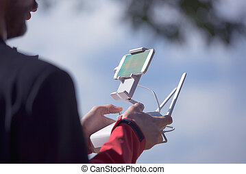 drone remote control with cellphone preview