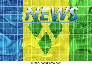 Flag of Saint Vincent and Grenadines wavy news - News...
