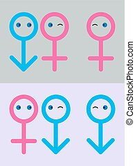 Homosexual And Lesbian : Eps 10 vector illustration