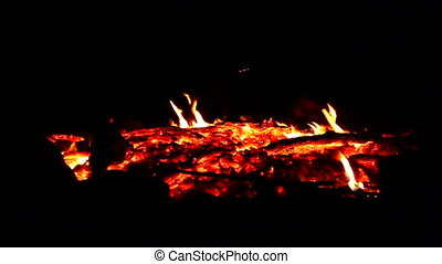 Campfire Embers and Coals - Bright embers of a campfire...