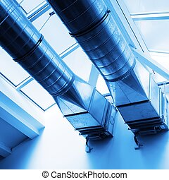 ventilation pipes of an new air condition for a cool home